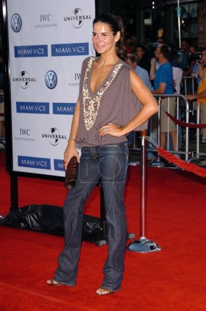 """Photo for Angie Harmon at the World Premiere of """"Miami Vice"""". Mann Village Westwood, CA. 07-20-06 - Royalty Free Image"""