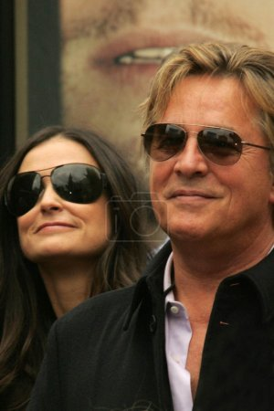 Demi Moore and Don Johnson