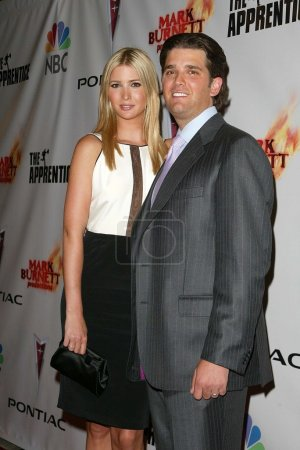 """Photo for Ivanka Trump and Donald Trump Jr at """"The Apprentice"""" Season Finale After-Party. LA Mart, Los Angeles, CA. 06-05-06 - Royalty Free Image"""