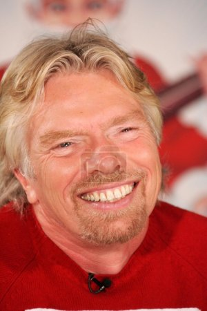 Photo for Richard Branson unveiling holiday ornaments. Virgin Megastore, Times Square, New York, NY 11-30-05 - Royalty Free Image