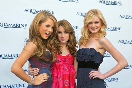 Jojo with Emma Roberts and Sara Paxton at the prem...