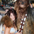 Fileena Bahris and Chewbacca at the