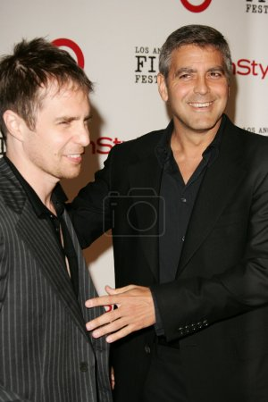 Sam Rockwell and George Clooney