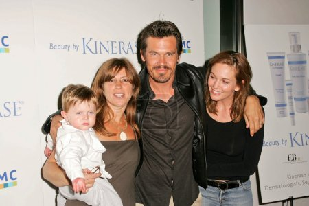 Photo for Andrea Joseph and son Brandon, Josh Brolin, Diane Lane at the fundraiser for EBMRF sponsored by Courteney Cox and KINERASE, Armand Hammer Museum, Westwood, CA 07-11-05 - Royalty Free Image