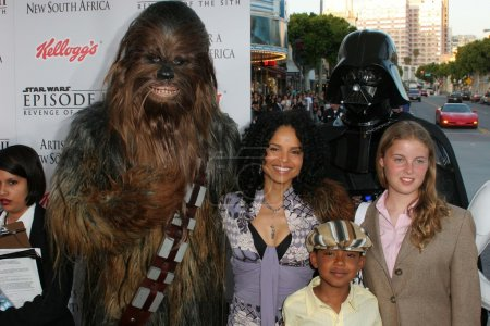 Victoria Rowell and Chewbacca
