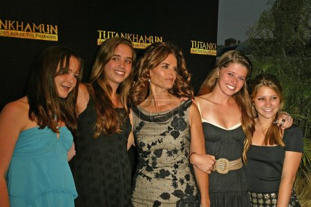 Maria Shriver and kids and friends at the King Tut...