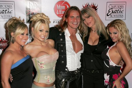 "Photo for Austin Moore, Jesse Jane, Janine Lindemulder, Carmen Luvana, Evan Stone at the Premiere of Digital Playgrounds ""Pirates"". Egyptian Theater, Hollywood, CA 09-12-05 - Royalty Free Image"
