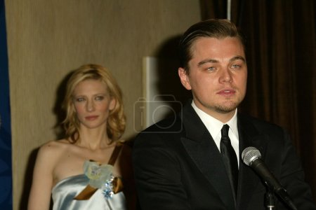 Cate Blanchett and Leonardo Dicaprio