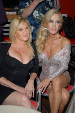 """Photo for Ginger Lynn, Amber Lynn at the """"Golden Goddesses"""" Book Launch Gala Event, Hustler Hollywood, West Hollywood, CA 11-29-12 - Royalty Free Image"""