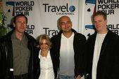 Alan Goehring, Jennifer Harman, Martin DeKniff and Erick Lindgren at the World Poker Tour Invitational 2005 Arrivals, Commerce Casino, Los Angeles, CA 02-23-05