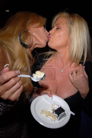 """Photo for Amber Lynn, Ginger Lynn at the """"Golden Goddesses"""" Book Launch Gala Event, Hustler Hollywood, West Hollywood, CA 11-29-12 - Royalty Free Image"""