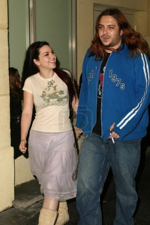 Photo pour Amy Lee d'Evanescence avec son petit ami Shaun Morgan de Seether au SONY-BMG Grammy Party 2005, Roosevelt Hotel, Hollywood, CA, 13-02-05 - image libre de droit