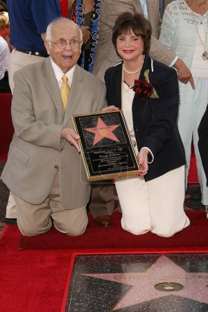 Johnny Grant and Cindy Williams