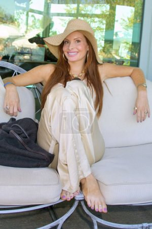 Photo for Phoebe Price at The Fulfillment Fund's Third Annual Summer Splash to benefit Bright Future Scholarships, Private Residence, Beverly Hills, CA. 07-25-04 - Royalty Free Image