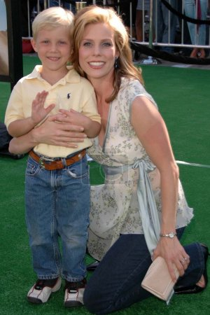 Cheryl Hines and son