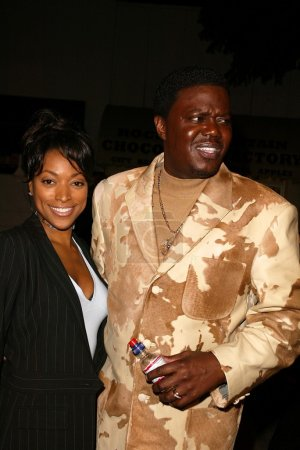 Kellita Smith and Bernie Mac at the premiere of Mi...