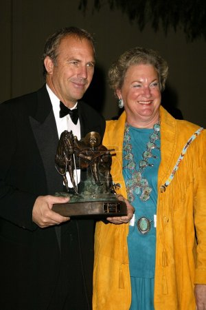 Kevin Costner and Jackie Autry