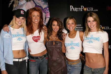 Photo pour Tiffany Haugen, Angie Everhart, Amy Weber, Jennifer Birmingham et Hayden Kristianson au Lingerie Bowl 2004 After-Party, Le Meridien Hotel, Beverly Hills, CA 02-01-04 - image libre de droit