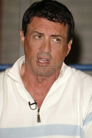 """Photo for Sylvester Stallone at a press conference to announce the new reality series """"The Contender"""" at the L.A. Boxing Club, Los Angeles, CA 02-24-04 - Royalty Free Image"""