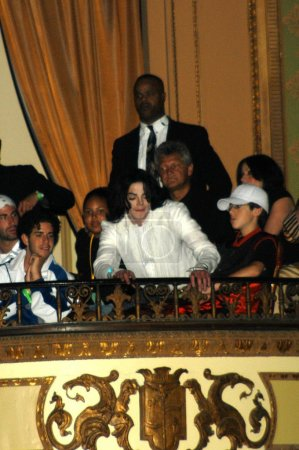 Michael Jackson watching stage show at Michael Jac...