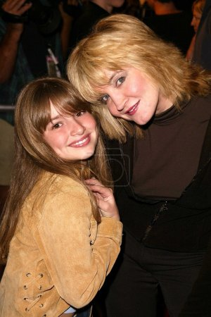 """Photo for Crystal Bernard and niece Ashley at the premiere of Dreamwork's """"Win A Date With Tad Hamilton"""" at the Pacific Crest Theater, Westwood, CA 01-09-04 - Royalty Free Image"""