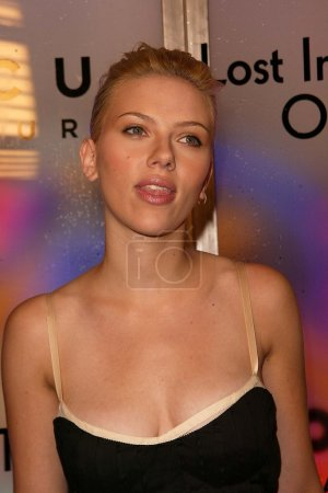 """Photo for Scarlett Johansson at the """"Lost in Translation"""" DVD Launch Event at Koi Restaurant, Los Angeles, CA 02-03-04 - Royalty Free Image"""
