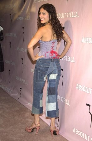 Lisa Edelstein at a party celebrating a collaborat...