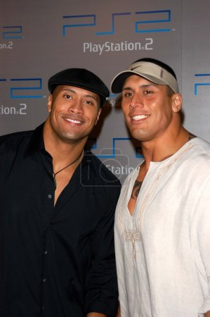 "Dwayne ""The Rock"" Johnson with his cousin"