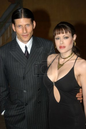 Crispin Glover and Alexa Lauren at a screening of ...