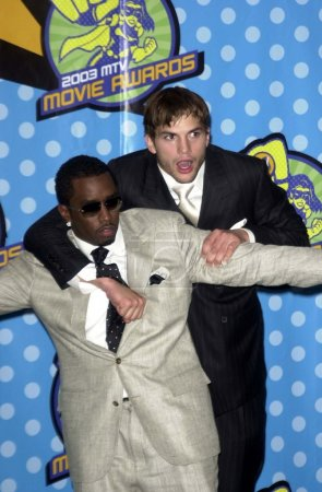 Puff Daddy and Ashton Kutcher