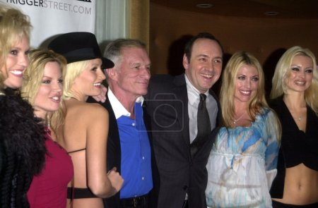 Kevin Spacey with Hugh Hefner
