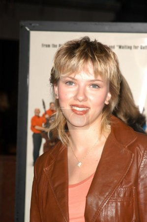 """Photo for Scarlett Johansson at the premiere of Warner Bros. """"A Mighty Wind"""" at the Directors Guild, Los Angeles, CA 04-14-03 - Royalty Free Image"""