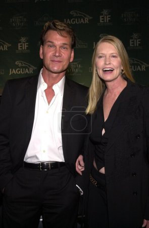 Patrick Swayze and wife Lisa