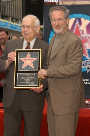 Johnny Grant and Steven Spielberg