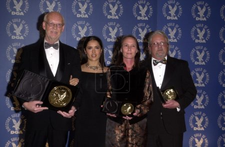 Mick Jackson and Salma Hayek