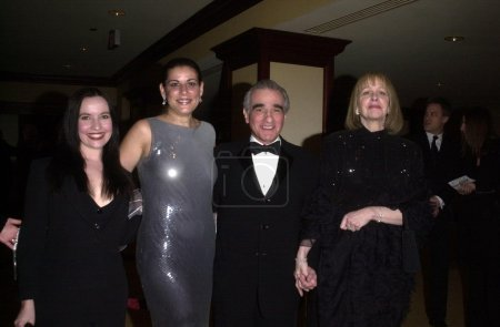 Scorsese and wife and daughters