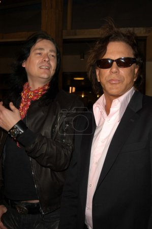 Jonas Akerlund and Mickey Rourke