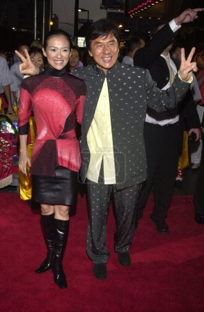 Jackie Chan and Zhang Ziyi at the premiere of New ...