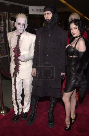 """Photo for Marilyn Manson and Dita Von Teese at the premiere of """"RESIDENT EVIL"""" at the Chinese Theater, 03-12-02 - Royalty Free Image"""