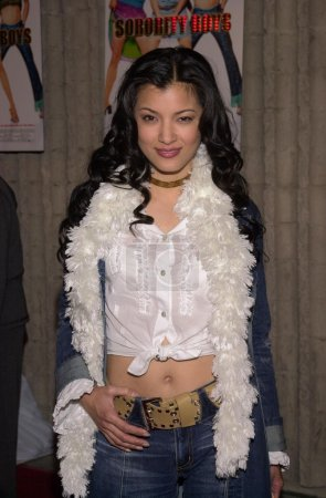"""Photo for Kelly Hu at the premiere of Touchstone's """"Sorority Boys"""" in Westwood, 03-19-02 - Royalty Free Image"""