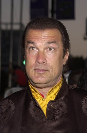 Steven Seagal at the premiere of New Line Cinemas ...