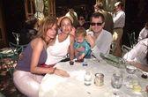 Rosanna Arquette, Donya Oldman, Gulliver Oldman and Gary Oldman