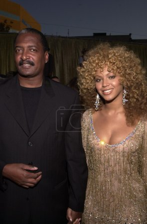 Beyonce Knowles and father