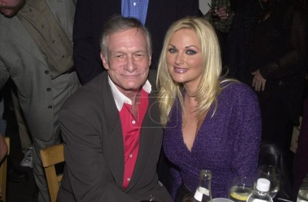 Hugh Hefner and Stacy Valentine