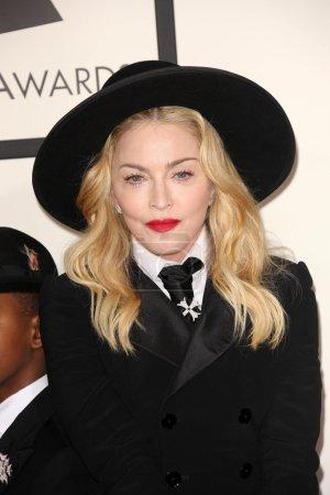 Photo pour Madonna Louise Ciccone au 56e Grammy Awards, Los Angeles, CA 26-01-14 - image libre de droit