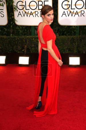Photo for Emma Watson at the 71st Annual Golden Globe Awards Arrivals, Beverly Hilton Hotel, Beverly Hills, CA 01-12-14 - Royalty Free Image
