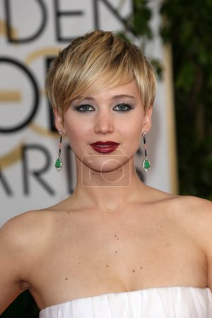 Photo for Jennifer Lawrence at the 71st Annual Golden Globe Awards Arrivals, Beverly Hilton Hotel, Beverly Hills, CA 01-12-14 - Royalty Free Image