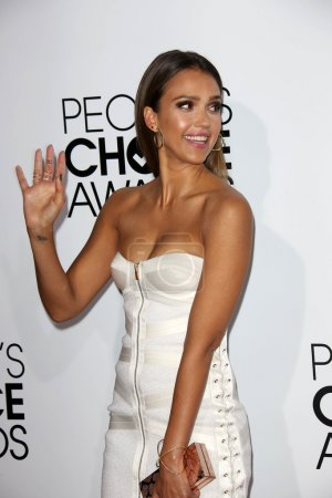 Photo for Jessica Alba at the 40th People's Choice Awards Arrivals, Nokia Theatre, Los Angeles, CA 01-08-14 - Royalty Free Image