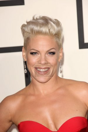 Photo pour Pink au 56e Grammy Awards annuel, Los Angeles, CA 26-01-14 - image libre de droit