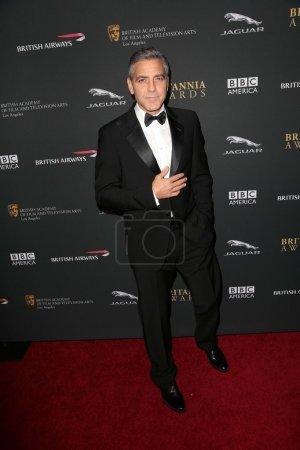 Foto de George clooney en los premios bafta de 2013 la jaguar britannia, beverly hilton hotel, beverly hills, ca 09/11/13 - Imagen libre de derechos